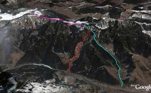 Traseul pe Hasmas in Google Earth