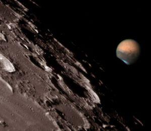 Marte langa Luna - Ocultatie